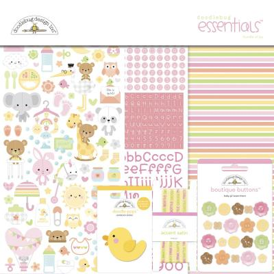 Doodlebug Baby Girl Scapbook Set - Essentials Kit